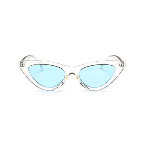 WQIANGHZI Damen Sonnenbrille Klassische Katzenauge Brillenfassung Retro Polarisiert Mode Partybrillen Shades Schutzbrillen Plastik Nerdbrille Brille im Steampunk Stil