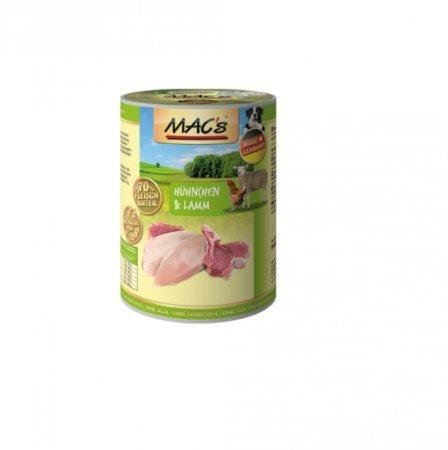 hundeinfo24.de MACs | Hühnchen & Lamm | 6 x 400 g