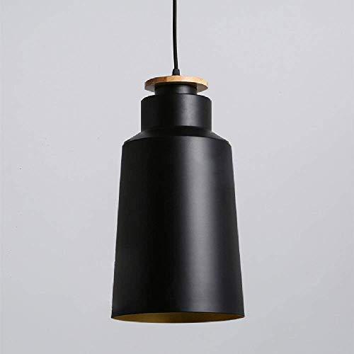 DGHDFH * Verstellbarer schwarzweißer Einzelkopf-Kronleuchter Office Warehouse Cafe Shade Eisenindustrie-Kronleuchter Anhänger Zwei Farben Kette: 1500mm (einstellbar) ●