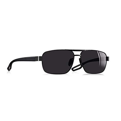 JU DA Sonnenbrillen Männer Polarisierte Sonnenbrille Metall Herren Sonnenbrille Fahren Platz Schattierungen Oculos Masculino Männliche Brillebrille C1Schwarz