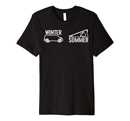 Preisvergleich Produktbild Winter Sommer Camping Shirt Vanlife Geschenkidee Klappdach