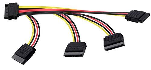 Poppstar Adaptador Cable alimentación SATA Quad 14-26.5cm