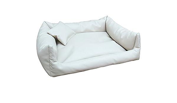 bianco divano per cani Rex Cuccia Letto Piazza in Eco Pelle S 50/X 70/colore Cuscino