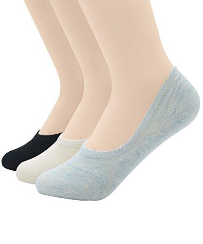Zando -  Calze sportive  - Uomo N 3 Pairs Black White Light Blue M