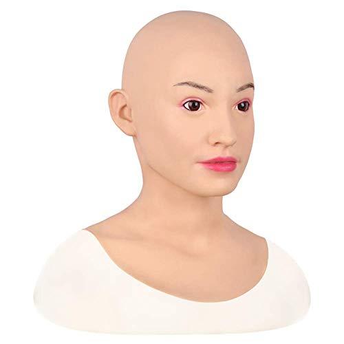 Weibliche Kopfschmuck-Maskerade Realistische Silikon-weibliche Maske für Göttin-Gesichts-Halloween-Dragqueen