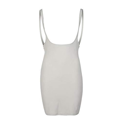Moto Kostüm Girl - UYSDF Fashion Kleidung Damen Sommer Mode Suspendiert Kleider charmant Geschlossen Taille Rein Farbig Kleider