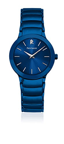 Pierre Lannier Pure Line – 022 °F966 – Weekend – Ladies Watch – Analogue Quartz – Blue Dial – Bracelet Steel Plated Blue