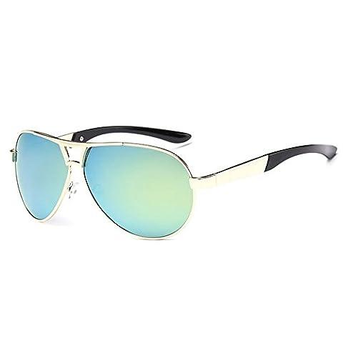 O-C Men's Women's stylish outdoor driving fishing mirrored sunglasses TAC UV 400 polarized 65mm (Alpine Man-kostüm)