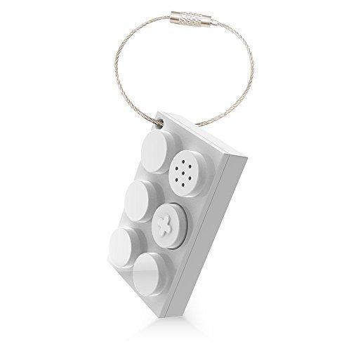 Photo Key Bluetooth Schlüsselanhänger mit Schlüsselfinder und Diebstahlschutz durch Entfernungsalarm in weiß