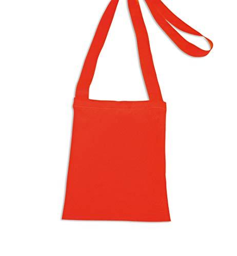 KarnevalsTeufel Tasche mit langem Umhängegurt in 3 Farben Tragetasche Beutel   Karneval Fasching Fastnacht (rot)