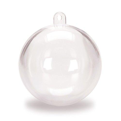 n Kunststoff Acryl ausfüllbare Ball Baum Christbaumkugel 80mm (Ausfüllbare Ornamente)