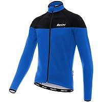 Santini Hermes Bike Jersey Longsleeve Men blue black 2018 Long Sleeve  Cycling Jersey a87348811