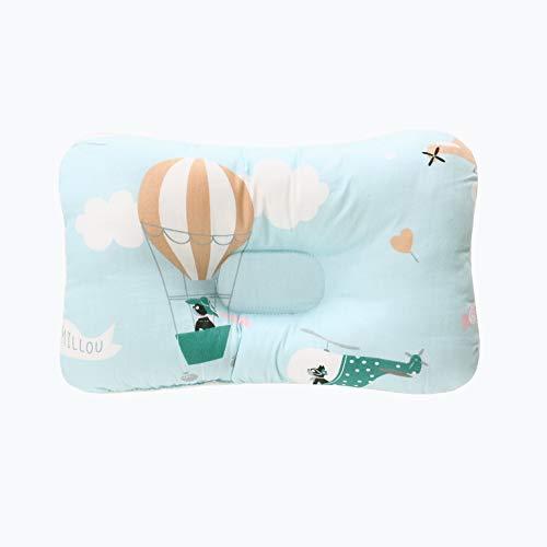 Oreiller de bébé pour nouveau-né, oreiller de formation de tête de bébé, coton doux nouveau-né Prévenir appui de tête plate, oreiller de bébé Prévention du syndrome de la tête plate 0-12 mois