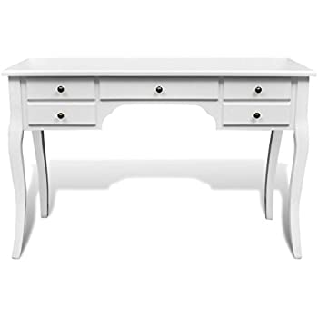 legs ac anself wooden table desk dressing and drawers french white curved with dp