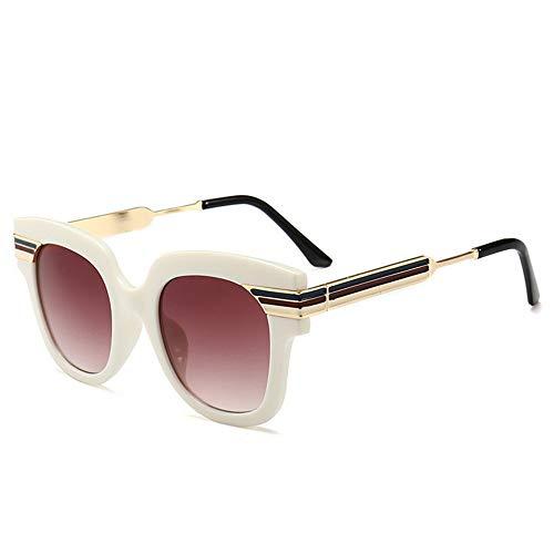 XHCP Frauen Klassische Sonnenbrille Übergroße Farbstreifen Unisex UV-Schutz Sonnenbrille Farbige Linse Fahren im Freien Reisen (Farbe: C6)