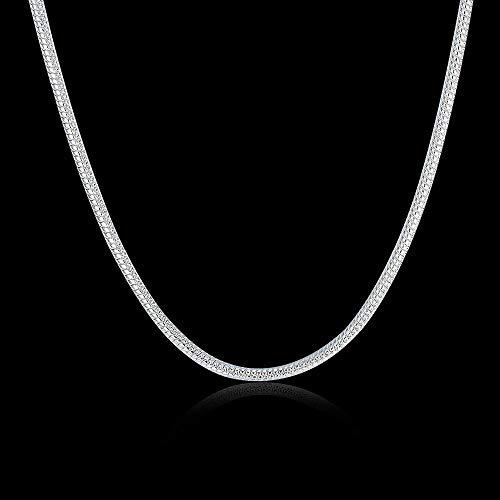 Frauen Halsketten 2MM Schlangenkette Europäische und Amerikanische Silberkette -