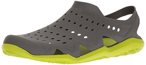 Crocs Herren Swiftwater Wave Brogue, Grau (Graphit / Volt / Grün), 375 EU