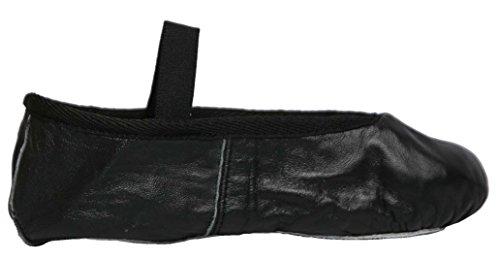 Happy Dance Ballet - Zapatillas de media punta de danza para niña, color negro, talla 39