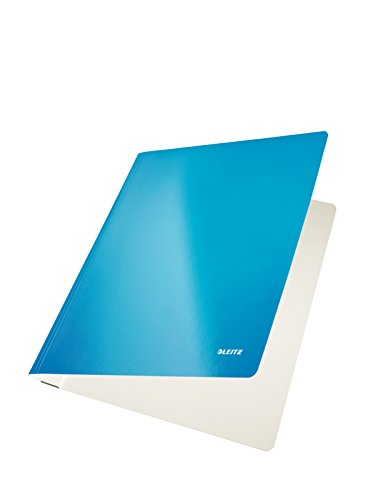 10 x Leitz Schnellhefter Wow A4 PP-laminiert 300g/qm blau metallic