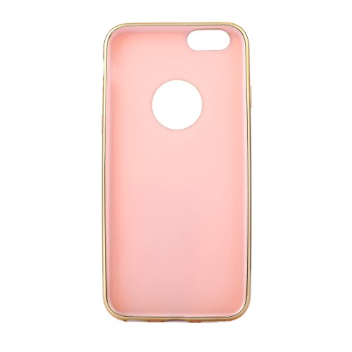 Für iPhone 6 / 6s, galvanisierender Goldrand Soft TPU Schutzhülle DEXING ( Color : Rose gold ) Rose gold