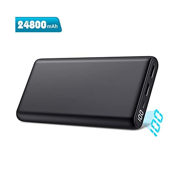 Trswyop Power Bank 24800mAh, 【Ultima Versione-Ricarica Veloce】 Caricabatterie Portatile con LCD Digital Display… 1 spesavip
