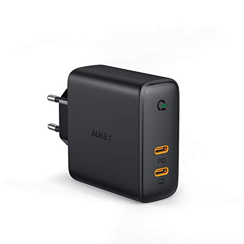 AUKEY USB C Caricatore da Muro 60W, Caricatore USB C con Power Delivery, Caricatore USB da Muro con GaN Tech per 13'' MacBook PRO, iPhone 11 PRO / 11, Pixel 3 / 3XL, Nintendo Switch ECC.