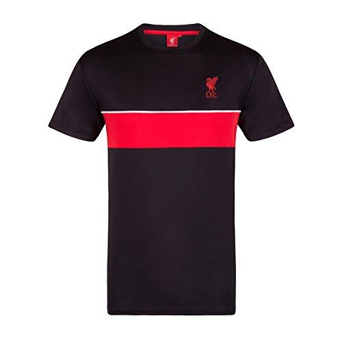 Liverpool FC Herren Trainingstrikot Aus Polyester - Offizielles Merchandise - Geschenk für Fußballfans - Schwarz - LFC - XXL