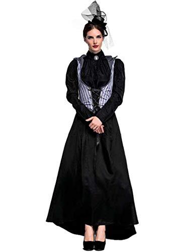 Yuyudou Frauen Cosplay Kostüm, Halloween Gothic Kleid, Elegantes Ghost/Witch Kostüm für Fancy Dress - Gothic Witch Kostüm