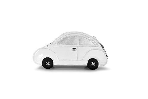 manuale di auto a forma di scarabeo shitao moda donna pu borsa di pelle st15qjc bianca