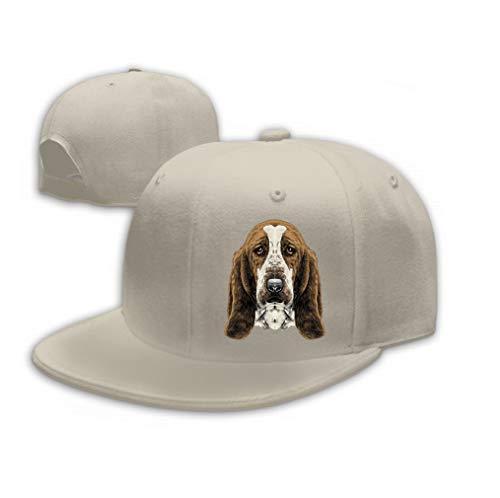 Sandwich Peaked Cap Durable Baseball Cap Hats Adjustable Peaked Trucker Cap Dog Head Parade Basset Hound Sketch Graphics s New y Sand Color ()