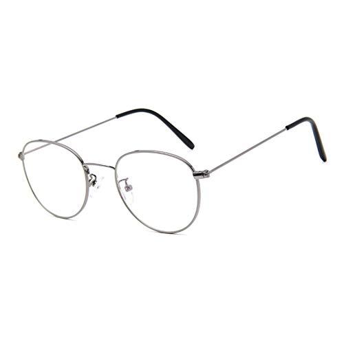 GUKOO Unisex Retro brillengestelle Dekogläser metall brille Mode durchsichtige nerdbrille