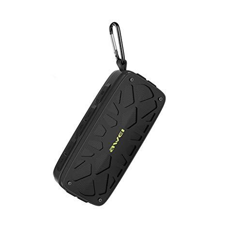 LRWEY TWS Wasserdichte Tragbare Bluetooth Stereo 1 Lautsprecher Outdoor Wireless Shower Loud für iPhone, Samsung usw.