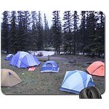 Camping ground at Lake Louise Banff Alberta Mouse Pad, Mousepad (Forests Mouse Pad)