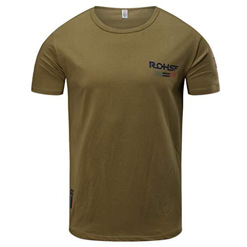 Haughtily Herren Frühling Sommer Druck Oansatz Kurzhülse T-Shirt Lässig Plus Größe Lose Fit Sweatshirt - Pfeil-v-neck T-shirt