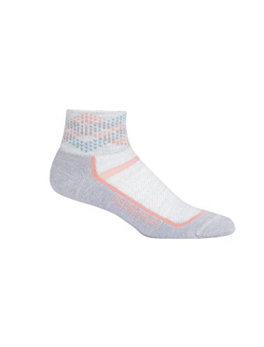 Icebreaker Socken kurz Women Multisport Ultra Light Mini, Damen, 101486, Alpine Argyle/Blizzard Heather/Sorbet, S - Argyle-socken Frauen