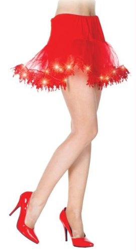 Underwraps Red Light Up Petticoat Tutu Skirt One - Tutu Lightup Kostüm