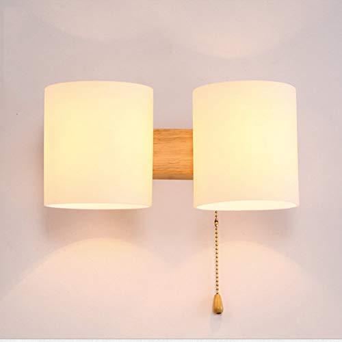 Moderne minimalistische Holz LED Wandleuchte Italien Wohnzimmer Esszimmer Schlafzimmer Kopfteil Korridor Hotel mit Schalter Wandleuchte Wandleuchte Minimalistische Eiche Leuchte Gang Treppenha -