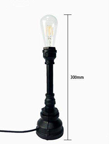 OOFAY LIGHT®Steampunk Fer Table Lampe Vintage Bureau Lumière E27 Fer Base Moderne Antique Rétro Table Lumineuse