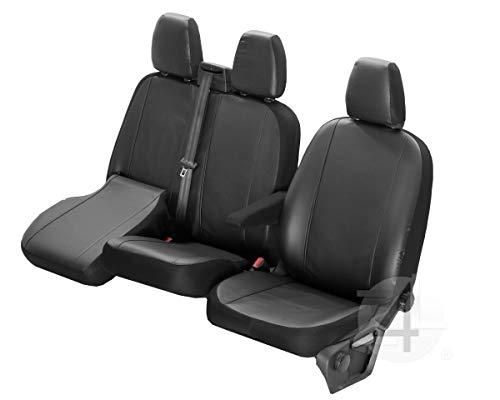Z4L Passgenaue Kunstleder Sitzbezüge VIP ideal Angepasst 1+2 (3-Sitzer) Fahrzeugspezifisch Kunstleder   4D-DV-VIP-VWCR-017-3M-OPC-80