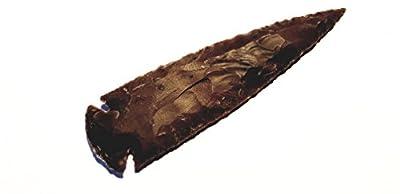 Pfeilspitze zwischen 2-11cm aus Achat (Steinzeit Nachbau) von Animus Imperat auf Outdoor Shop