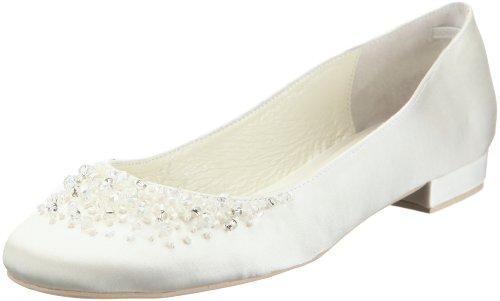 Menbur Wedding Brautschuhe Ballerinas, Ivory