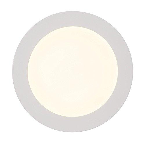 Moderne 12W LED Einbauleuchte Panel im schlichten Design rund Ø 17cm, 1.080 Lumen, 3000K, Metall/Kunststoff, weiß 17 Flat Panel