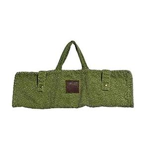 E+N Barbeque Grill-Tasche Grillbesteck-Tasche BBQ-Tasche Geschenk-Idee Outdoor Garten Sommer Grillen Stonewashed grün, Breite x Höhe: 50 x 19cm
