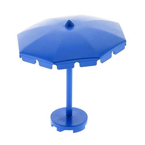 Bausteine gebraucht 1 x Lego System Fabuland Schirm blau Umbrella Sonnenschirm eckige Franzen mit...