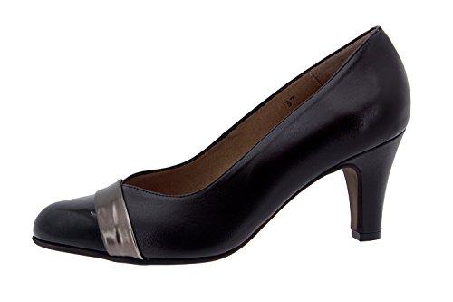 Chaussure femme confort en cuir semelle Piesanto 5204 escarpins habillée comfortables amples Caoba