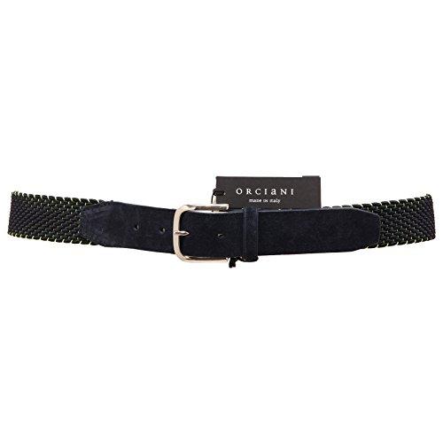 8009R cintura uomo ORCIANI blu giallo belt men [105 CM]