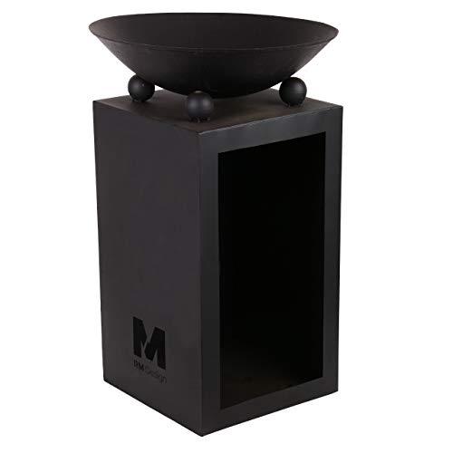 RM Design Brasero en métal Noir Ø 44 cm pour terrasse/terrasse en Tant Que brasero ou Pompier pour Le Jardin