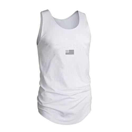 R-Cors Männer gestreifte amerikanische Flagge gedruckt Tank Top lässig Sommer ärmelloses Shirt Rundhals schlanke Fitness Tops