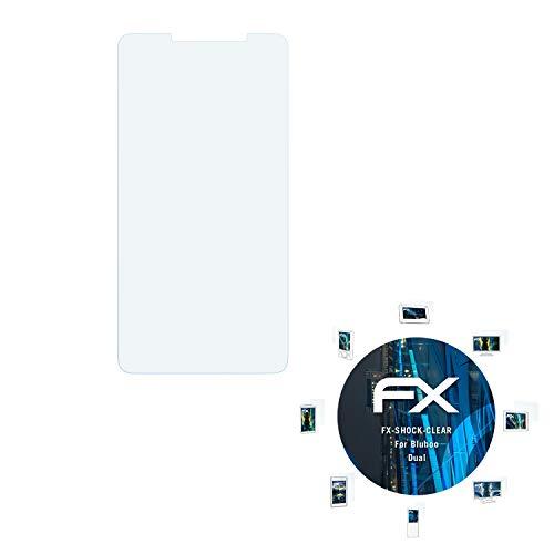 atFolix Schutzfolie kompatibel mit Bluboo Dual Panzerfolie, ultraklare und stoßdämpfende FX Folie (3X)