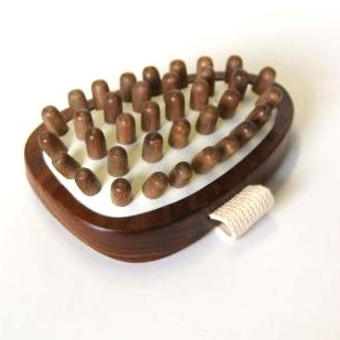 Hydrea Health and Beauty Accessory Walnut Wood Cellulite Massager